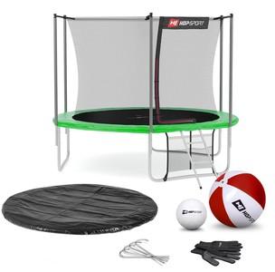 Hop-Sport Trampolína Hop-Sport 10ft (305cm) s vnútornou ochrannou sieťou - zelená
