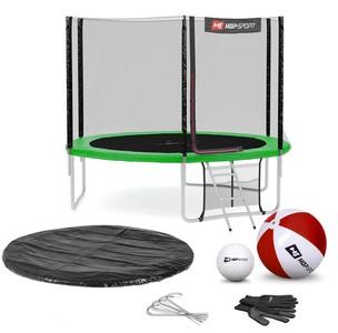 Hop-Sport Trampolína Hop-Sport 10ft (305cm) s vonkajšou ochrannou sieťou - zelená