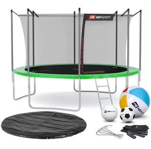 Hop-Sport Trampolína Hop-Sport 12ft (366cm) s vnútornou ochrannou sieťou zelená