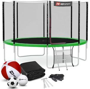 Hop-Sport Trampolína Hop-Sport 12ft (366cm) s vonkajšou ochrannou sieťou zelená
