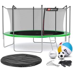 Hop-Sport Trampolína Hop-Sport 14ft (427cm) s vnútornou ochrannou sieťou zelená
