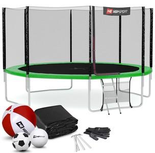 Hop-Sport Trampolína Hop-Sport 14ft (427cm) s vonkajšou ochrannou sieťou zelená