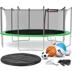 Hop-Sport Trampolína Hop-Sport 16ft (488cm) s vnútornou ochrannou sieťou zelená