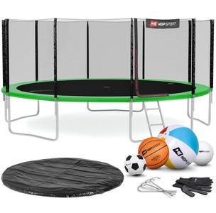 Hop-Sport Trampolína Hop-Sport 16ft (488cm) s vonkajšou ochrannou sieťou zelená