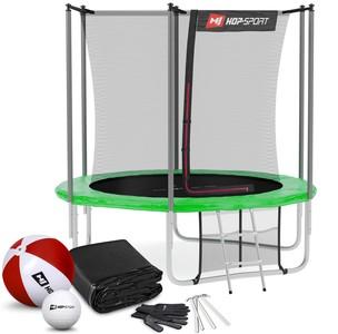Hop-Sport Trampolína Hop-Sport 8ft (244cm) s vnútornou ochrannou sieťou - zelená
