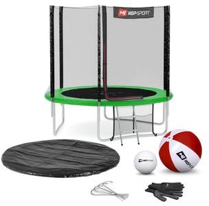 Hop-Sport Trampolína Hop-Sport 8ft (244cm) s vonkajšou ochrannou sieťou zelená