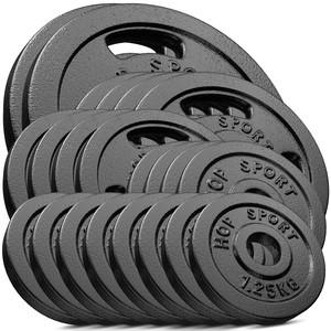 Hop-Sport Sada liatinových kotúčov 120kg (2x20 4x10 6x5 4x2,5)