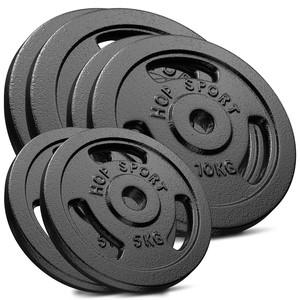 Hop-Sport Sada liatinových kotúčov 60 kg (2x15, 2x10, 2x5)
