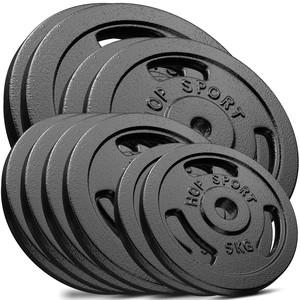 Hop-Sport Sada liatinových kotúčov 120kg (2x20, 2x15, 4x10, 2x5)