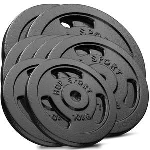 Hop-Sport Sada liatinových kotúčov 120kg (2x20, 4x15, 2x10)