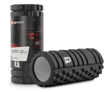Hop-Sport Masážny valec EVA 33 cm čierny