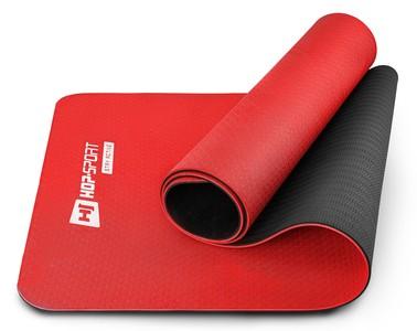 Hop-Sport Podložka fitness TPE 0,6cm - červená