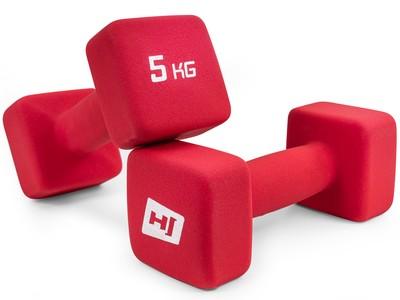 Hop-Sport Sada neoprenových činiek 2x5kg