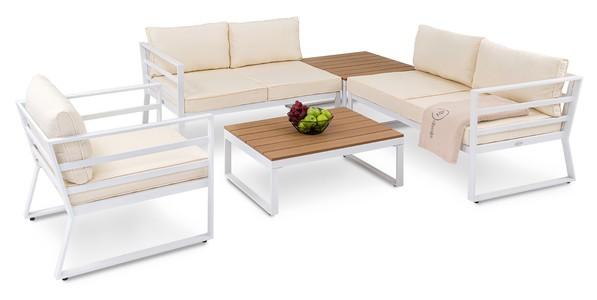 DiVolio Záhradný nábytok AVOLA Bielo-béžový