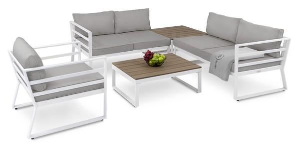 DiVolio Záhradný nábytok AVOLA Bielo-šedý