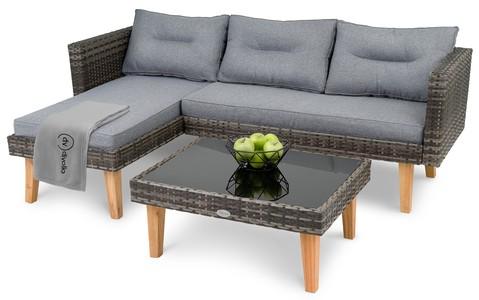 di volio Záhradný nábytok IMOLA Tmavo šedý/šedý