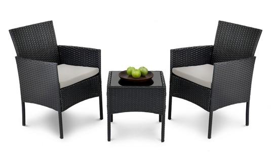 DiVolio Záhradný nábytok SIENA Čierno-šedý