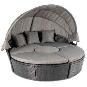 di volio Záhradný nábytok MILANO Čierno/ šedý