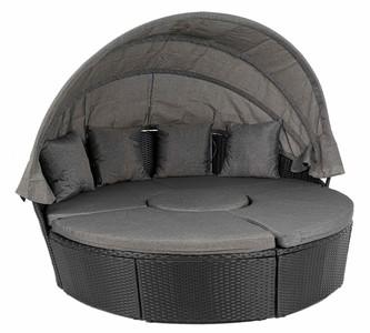 DiVolio Záhradný nábytok MILANO Čierno/ šedý