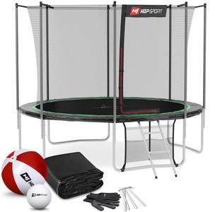 Hop-Sport Trampolína 10ft (305 cm) s vnútornou sieťou Čierno/zelená 4 nohy