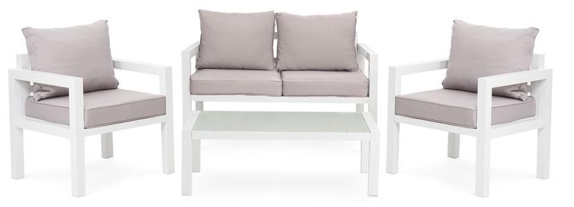 DiVolio Záhradný nábytok BRESCIA 2 - Bielo/Šedý