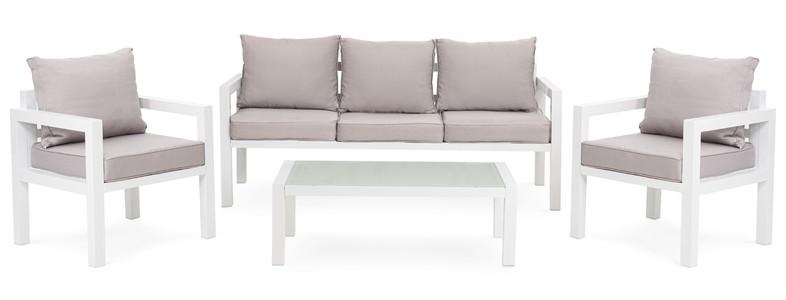 DiVolio Záhradný nábytok BRESCIA 3 - Bielo/Šedý