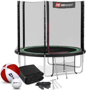 Hop-Sport Trampolína 8ft (244 cm) s vonkajšou sieťou Čierno/zelená