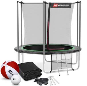 Hop-Sport Trampolína 8ft (244 cm) s vnútornou sieťou Čierno/zelená