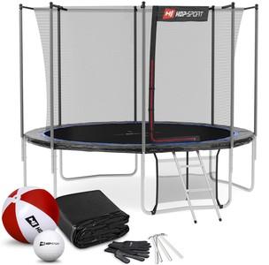 Hop-Sport Trampolína 10ft (305 cm) s vnútornou sieťou Čierno/modrá 4 nohy