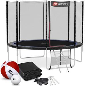 Hop-Sport Trampolína 10ft (305 cm) s vonkajšou sieťou Čierno/modrá 4 nohy