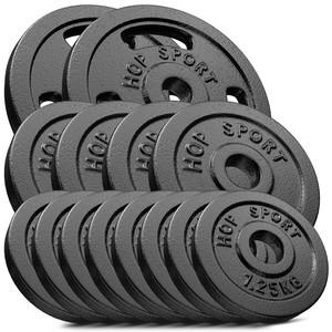 Hop-Sport Hop-Sport Sada liatinových kotúčov 30kg (2x5, 4x2.5, 8x1.25) 31 mm