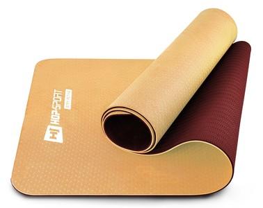 Hop-Sport Podložka Fitness TPE 0,6cm oranžovo/červená