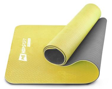Hop-Sport Podložka Fitness TPE 0,6cm žlto/šedá