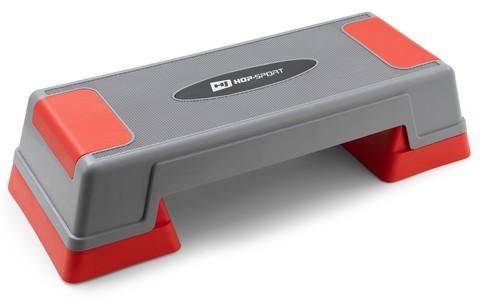 Hop-Sport Aerobic step 2-stupňový šedo/červený
