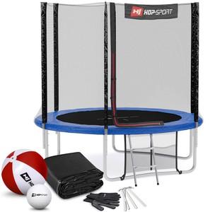 Hop-Sport Trampolína Hop-Sport 8ft (244cm) s vonkajšou ochrannou sieťou modrá