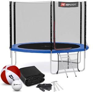 Hop-Sport Trampolína 10ft (305cm) s vonkajšou ochrannou sieťou modrá - 3 nohy