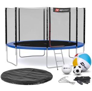 Hop-Sport Trampolína Hop-Sport 12ft (366cm) s vonkajšou ochrannou sieťou modrá