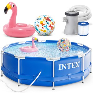 Intex Bazén 28202 Intex Metal Frame 305 x 76 cm s pumpou