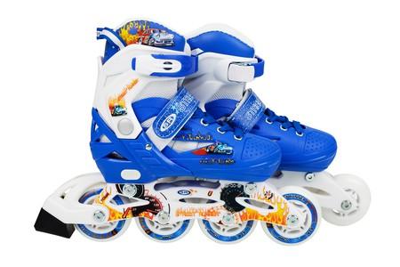 Flimboo Detské kolieskové korčule modré ABEC9 30 - 33