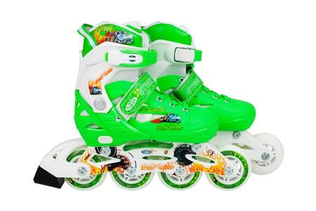 Flimboo Flimboo Detské kolieskové korčule zelené ABEC9 30 - 33
