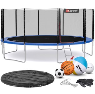 Hop-Sport Trampolína Hop-Sport 16ft (488cm) s vonkajšou ochrannou sieťou modrá